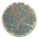 Covered 15, 2015, Acrylic, gold & silver leaf on canvas, Diameter: 80 cm, private collection
