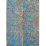 Well Covered 1, 2015, Acrylic, Gold leaf & Silver on canvas, 60 x 100 cm, private collection