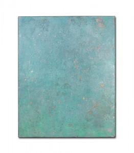 Blinky 6, 2016, Acrylic, gold and silver leaf on canvas, 80 x 100 cm