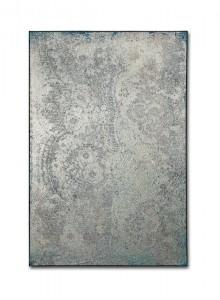 Blue Oxidation 5, 2016, Acrylic, gold & silver leaf on canvas, 40 x 60 cm
