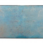 Blue Oxidation 21, 2017, Acrylic, gold & silver leaf on canvas, 80 cm x 140 cm