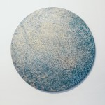 Blue Oxidaiton 14, 2016, Oxidation Painting, Diameter: 80 cm, Public Collection, Carnigie Mellon Univerity Pittsburgh