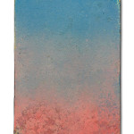 CB 3, 2019, Oxidation Painting on canvas, 18 cm x 24 cm