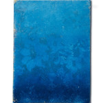Deep Blue, 2019, Oxidation Painting on canvas, 30 cm x 40 cm (private collection Sydney)
